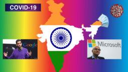 দুই ভারতীয় গুগলের সিইও সুন্দর পিচাই ও মাইক্রোসফটের সিইও সত্য নাদেলা আর্থিক সাহায্য ঘোষণা