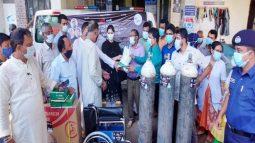 শ্রীমঙ্গল ও কমলগঞ্জে করোনা ভাইরাস প্রতিরোধে সুরক্ষা সামগ্রী বিতরণ